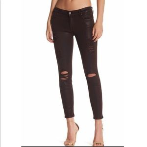 7 For All Mankind. Coated ankle skinny jean.